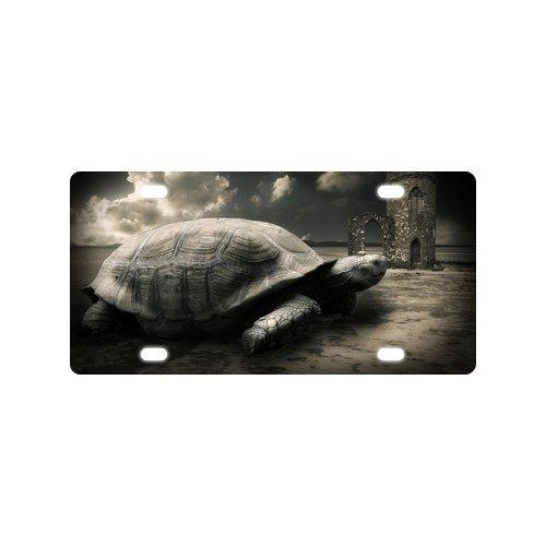 "New Arrival! Vintage Retro Style Turtle And Old House Strong And Durable Aluminum Car License Plate 12"" X 6"""