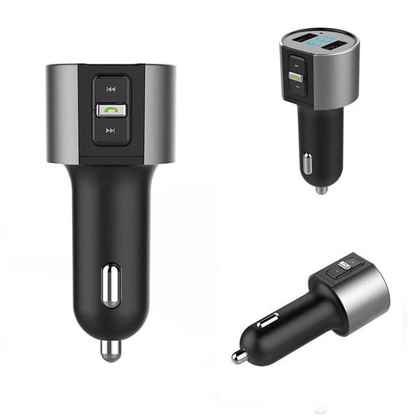 C26S fahrzeug angebrachter Bluetooth-Adapter Drahtlose Bluetooth FM-Transmitter-Funkadapter Car Kit Schwarzer MP3-Player USB-Gebühr Kostenloser Versand