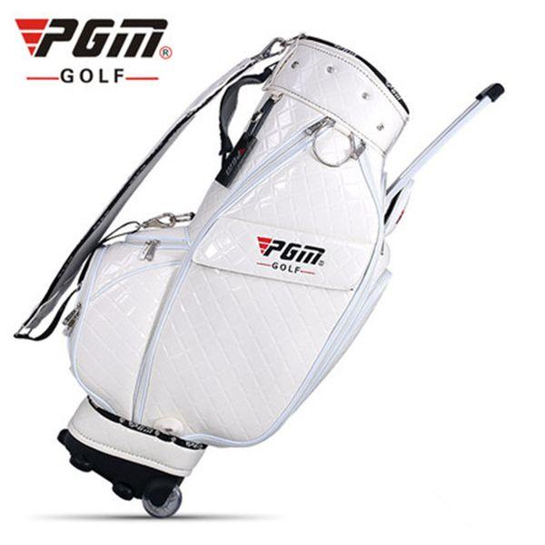 Pgm Golf Bracket Ball Bag Standard Tasche Männer Und Frauen Ultraleichte Trolley Räder Wasserdichte PU Personal Golf Bags D0084