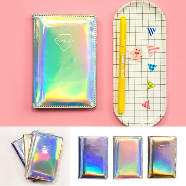 Laser Holographic Wallet Bag PU Leather Function Id Bank Card Bag Men Women Passport Business Holder Travel Accessories Passport Cover