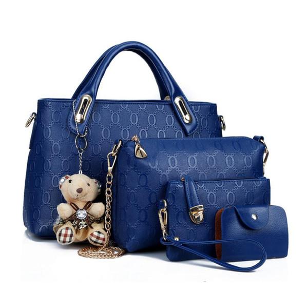 High-grade imported fabric PU Leather Crossbody Bag Set Top-Handle Big Capacity Female Handbag Fashion Shoulder Bag Purse Ladies