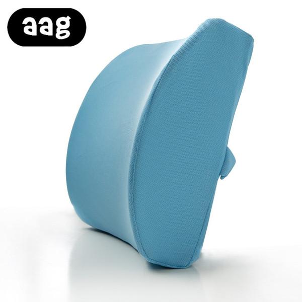 AAG Office cushion memory foam Lumbar Cushion Breathable Healthcare Back Waist Support Cushion Chair Backrest lumbar Pillow