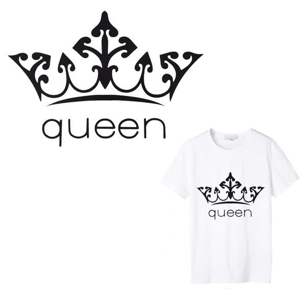 1 UNIDS Reina de Hierro en Applique Bordado Parches de Flores para la Ropa DIY Vinilo Caliente Calor Transferencias Térmicas para la Camiseta pegatinas
