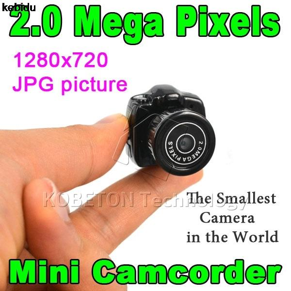 2017 Hotest Y2000 Cmos Super Mini Caméra Vidéo Ultra Petite Poche 640 * 480 480 P DV DVR Caméscope Enregistreur Web Cam 720 P JPG Photo