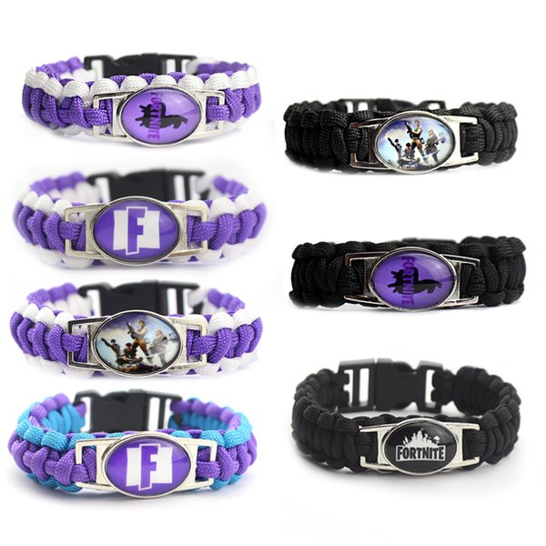 Game Fortnite Wristband Classic Gift Fortnite Braided Bracelet Cool Game Animation Accessories Teenager Jewelry Party Free DHL 805