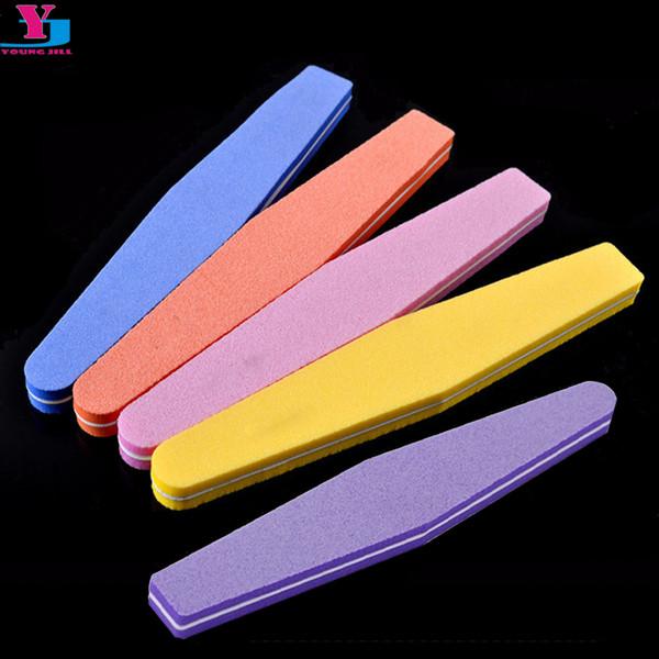 5Pcs/Lot Mix Color Nail Files Sponge Diamond Nail Buffer File Washable Lime Unghie 100/180 Polish Buffer Block Suppliers
