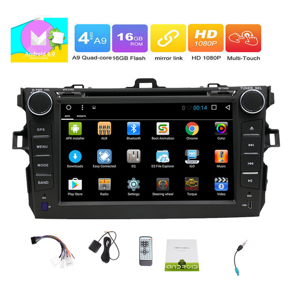 HD 7''multi-touchscreen Car dvd Radio Stereo Quad-core Android 6.0 System GPS Navigation Bluetooth FM AM RDS USB/SD Wifi Phone Link Headunit