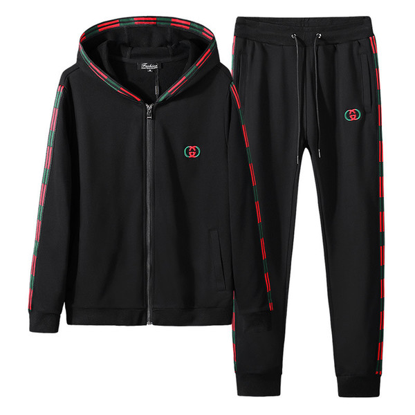 Men's Suit Long Sleeve Even Midnight Trend Fashion Trousers Motion Twinset Spring And Autumn Dress