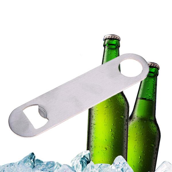 Benzersiz Paslanmaz Çelik Büyük Düz Hız Şişe Kapağı Açacağı Sökücü Bar Bıçak Ev Otel Profesyonel Bira Şişe Açacağı