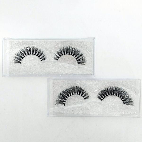Wholesale- Cocute 10 Pairs/lot Beauty Makeup 3D Mink Half Corner Black False Eyelashes Natural Eye Lashes Cosmetics 4 colors send by ramdon