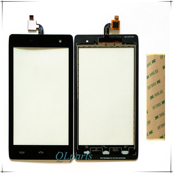With Sticker Tape Mobile Phone Touch Screen Digitizer For HOMTOM HT20 Touchscreen Panel Sensor Front Glass Lens Free Shipping