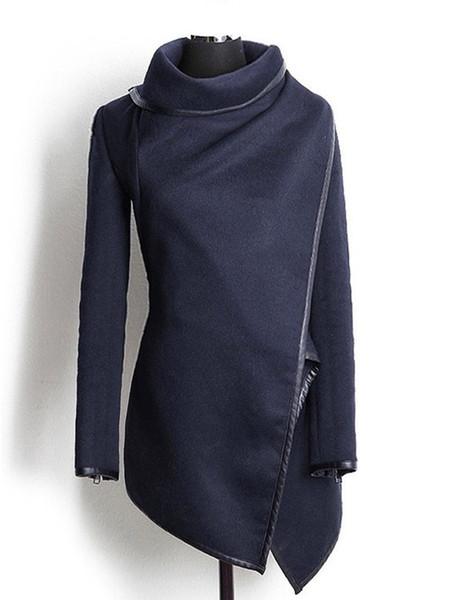 Großhandels-Heißer Verkaufs-Winter-langer farbiger Trenchcoat-Frauen-Kaschmirmantel-volle Größen-Frauen-Wollmantel-Pelz-Manteau Abrigos Mujer