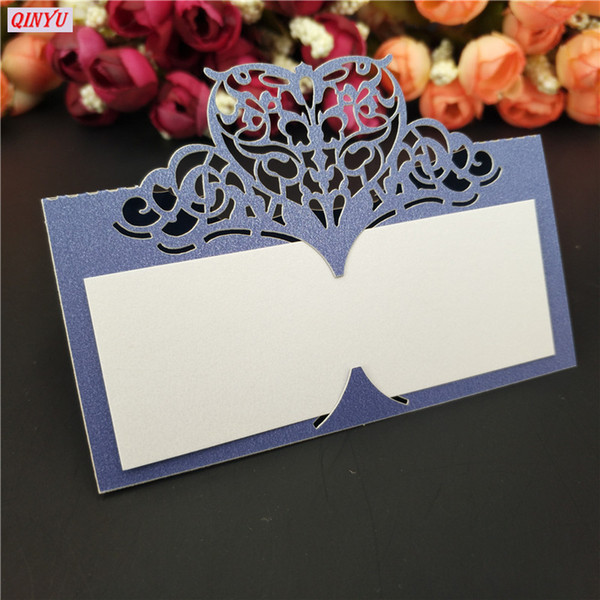 5000pcs Laser Cut Heart-shaped Wedding Party Table Name Cards Wedding Decoration 21 Colors 9x9cm Place Name Card 5ZSH871