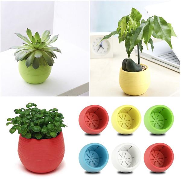 5 Colors Flower Pots Mini Flowerpot Unbreakable Plastic Nursery Pots Adorable Afforest Aid Good Helper use for garden