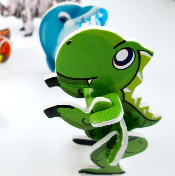 Wholesale 720pcs/lot Mini Cartoon Animal Model Paper 3D Puzzles Toys for Children Gift Intelligence Toys