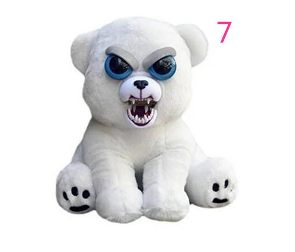 1pcs animali domestici pelosi giocattoli di peluche per bambini regalo di natale occhi grandi cane panda gatto scimmia cambia faccia peluche bambole con espressione divertente