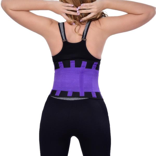 Cinturón de sudor Fajas Entrenador de cintura Body Shaper Mujeres Cinturones de cintura delgada Cinturón de respiración transpirable Corsé Workout Cinturón de neopreno HH08