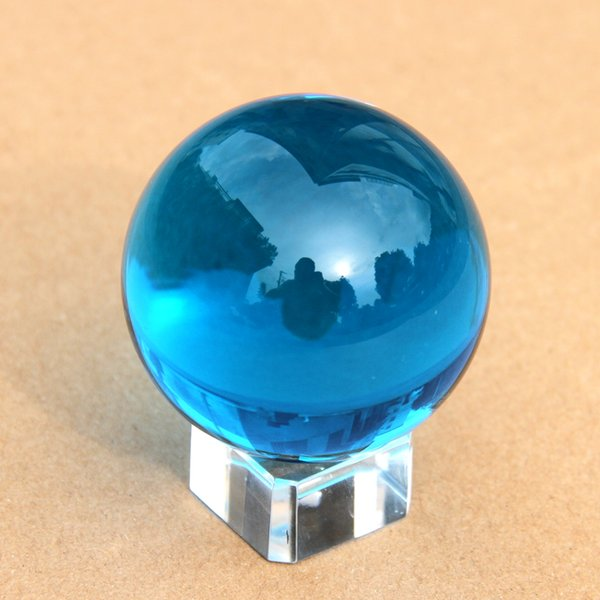craft balls Hot Sale Pure High Quality Quartz 70mm Aquamarine Crystal Ball Glass Sphere Beautiful Craft For Decoration