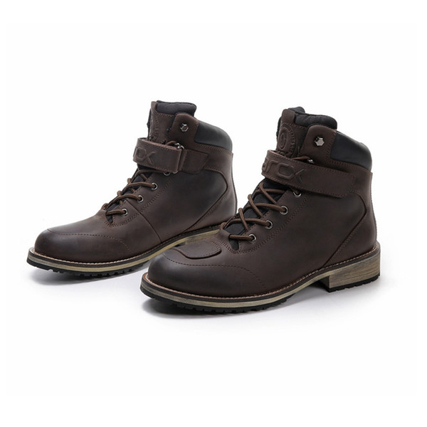 ARCX Motorcycle Boots Leather Motocross Boots Motorcycle Touring Riding Shoes With Shell Protection Vintage leather shoes