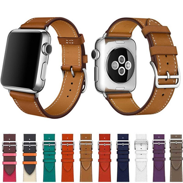 original leather single tour Watchbands for Apple Watch Series1 2 3 4 40mm 44mm iwatch4 bands Leather Strap Bracelet New Fashion Stripes