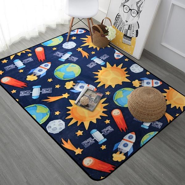 Großhandel Space Universe Planet Cartoon Teppich Für Wohnzimmer Weichen  Teppich Kinderzimmer Süße Teppiche Für Schlafzimmer Computer Stuhl Floro  Mat / ...