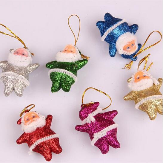 30 pcs Christmas Tree Decorations Santa Claus Christmas Ornaments Decorations for Tree Hanging Accessories Ornaments for Home