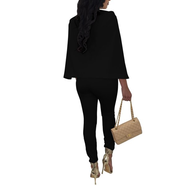 NEW Plus Size Jumpsuits And Rompers For Women 2017 Fashion Design Casual Sexy Jumpsuit Full Cloak Sleeve Long Jumpsuit V-Neck