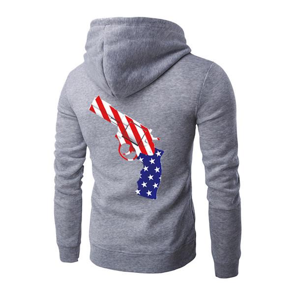 Gun Printed Men Hoodie New Hip Hop Designer Sportswear Hooded Sweatshirts Men's Hoodies Male Sport Suit Streetwear Tracksuit 5 Colors Cheap