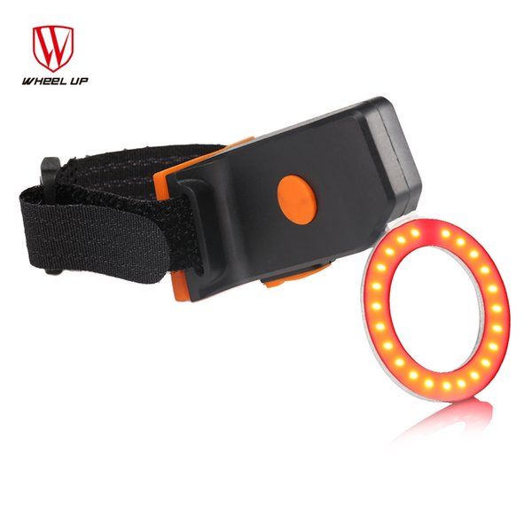 Wheelup Circle Wireless Intelligent USB Charging Bicycle Tail Light Alarm Two models, circle and heart shapes for order options