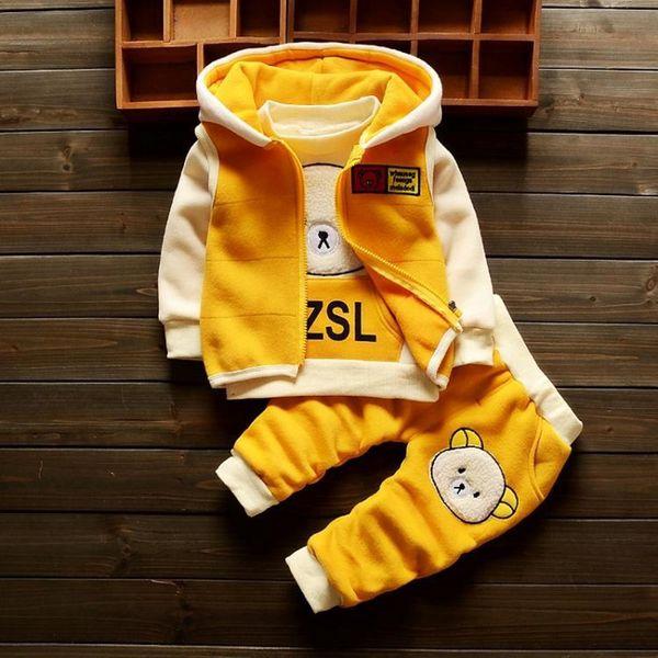 Bebé recién nacido primavera otoño 3 unids conjunto de prendas de vestir para niños niñas sport juegos infantiles chándales traje bebé primavera cálido set