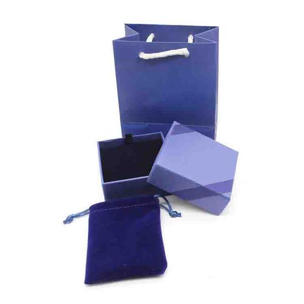Фирменный известный бренд ювелирных изделий подарочная коробка набор в синий цвет бесплатная доставка PS4003