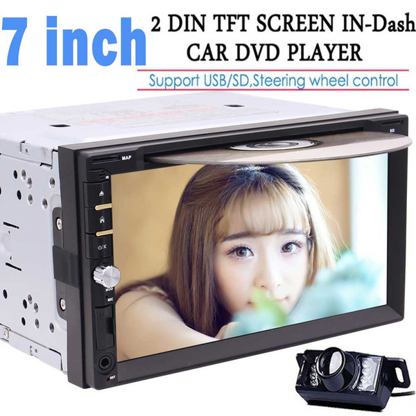 7'' Double DIN In Dash gps navigation car Dvd Player Car Stereo Headunit Touch Screen Bluetooth USB Sd Mp3 AM/FM Radio Receive