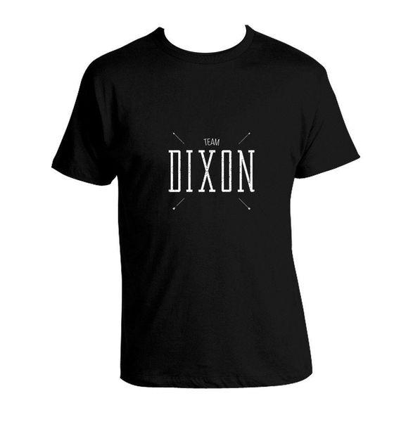 Daryl Dixon T-shirt The Walking Dead Black Shirt Team Dixon 100% Cotton Unisex Mens 2018 fashion Brand T Shirt O-Neck 100%cotton T-Shirt