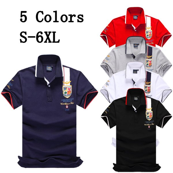 S-6XL Brand Designer New Style Mens Polo Shirts Tops Embroidery Men Short Sleeve Cotton Blend T Shirt Jerseys Polos Hot Sales Men Clothing