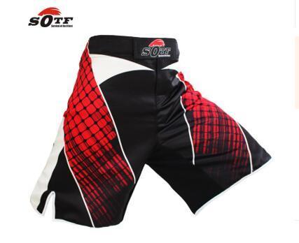 SOTF homens japonês guerreiro cinza sports fitness ângulo calças Tiger Muay Thai shorts de boxe troncos mma curto kickboxing boxeo pretorian