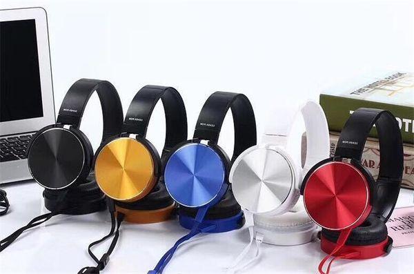 MDR-XB450 Auriculares con banda de sujeción Auriculares con bajo extra Auriculares con cable Auriculares estéreo con micro para juegos Auriculares de deportes con caja de deporte con caja