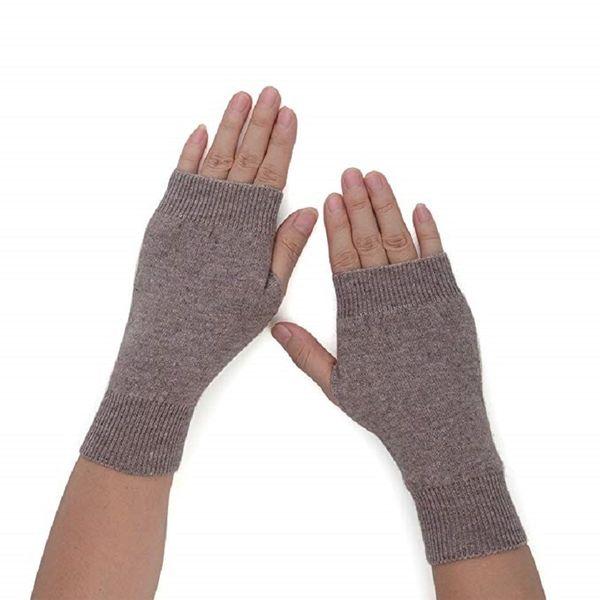 Women's Cozy Wool Knit Half Fingerless Gloves Mittens Warm Thumb Hole Gloves
