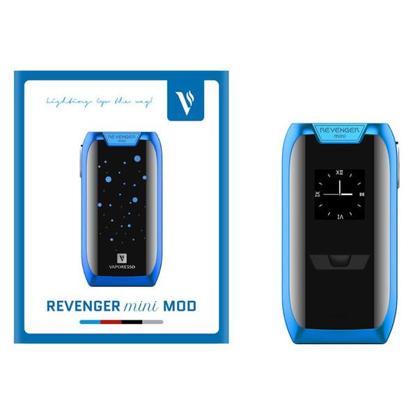100% Original Authentic Vaporesso Revenger Mini Mod Kit--TC Mod Kit--X Mod Kit 85W-220W LED Vape Box
