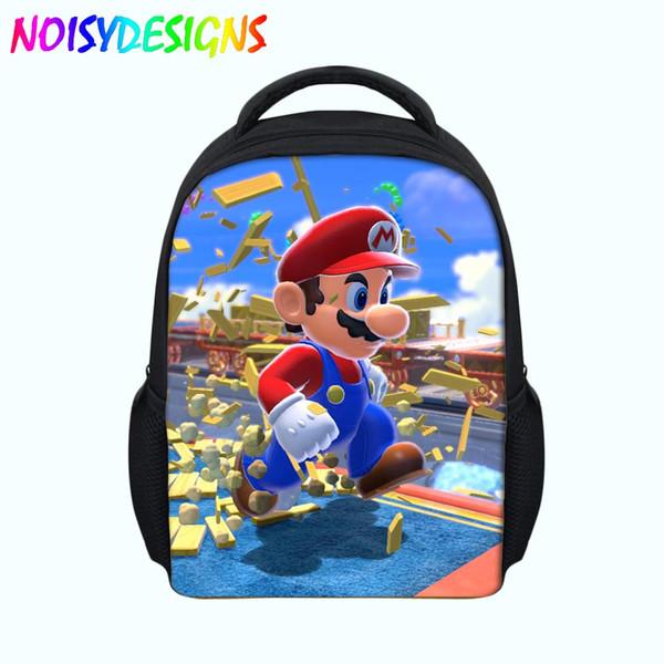 Printing Backpacks For Girls Boys Super Mario back to school sac a dos Satchel Kids Bags Cartoon School Bag escolar