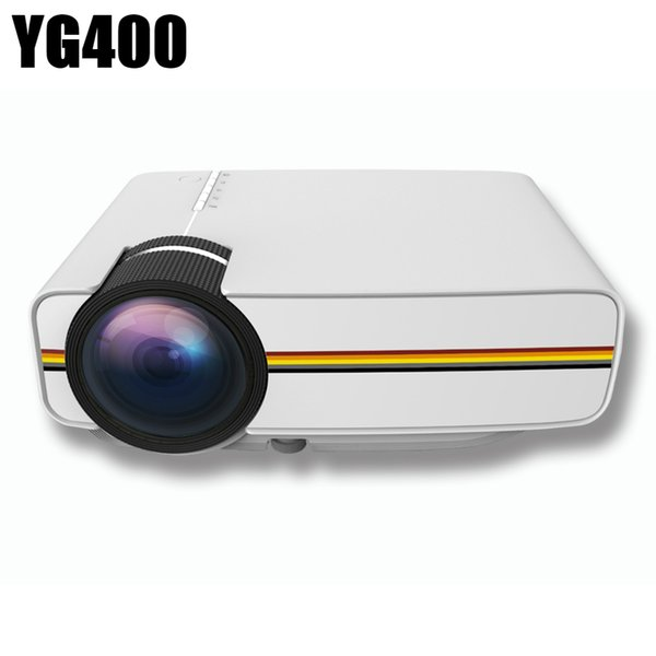 New YG400 Mini Projector Video LED Projector Home Theater Portable Proyector Cinema Beamer Video Game Projector AC3 HDMI USB VGA