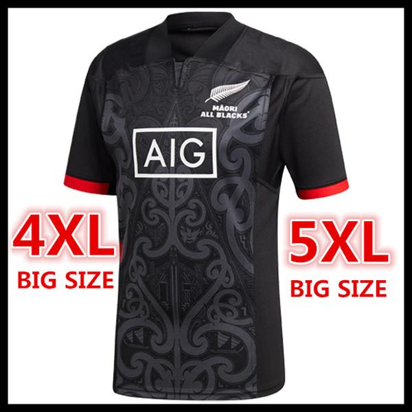 53c012d0ad0 Big Size 4xl 5xl ! New Zealand Maori All Blacks Rugby Jerseys 2018 ...
