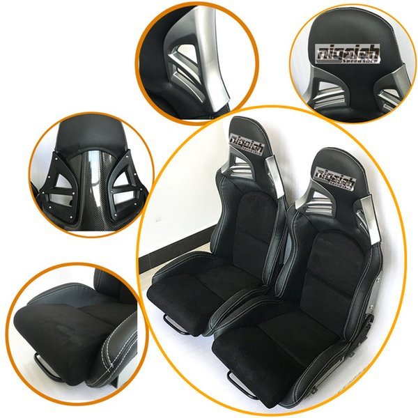 2PCS/LOT OEM SPE Adjustable & Reclinable Seat Black PU leather Sport Racing Car Seat for Porsche