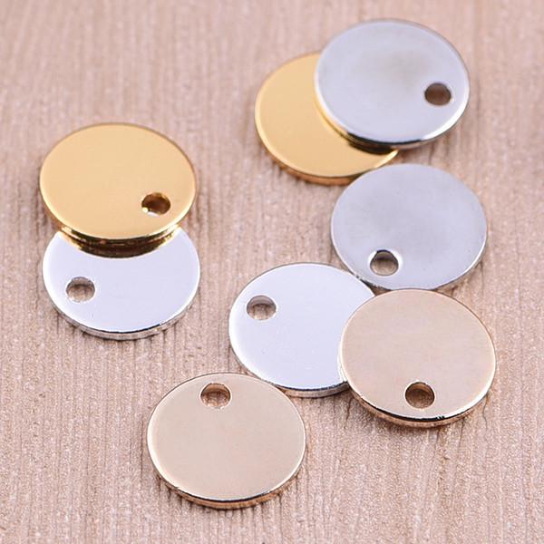 Beichong mode trois couleurs en acier inoxydable collier accessoires cercle amour coeur pour bricolage bracelet collier bijoux cadeau
