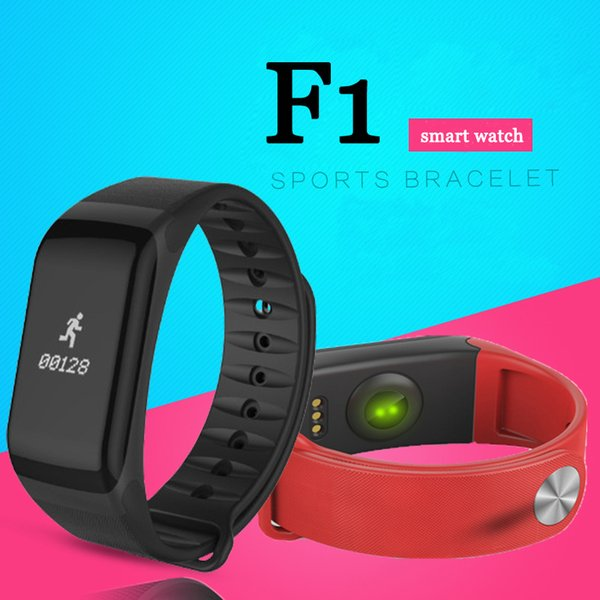 F1 smart Wristband Measurement Of Heart Rate Blood Pressure Blood Oxygen IP67 Waterproof for IOS and Android Phone