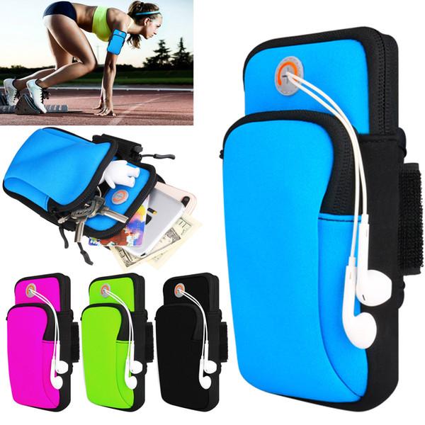 Fascia da braccio sportiva da corsa jogging palestra 4-6 pollici smartphone in esecuzione braccio banda sacchetto del sacchetto del supporto per samsung galaxy s9 plus iphone x xiaomi