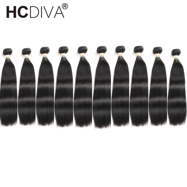 HCDIVA Hair Products Brazilian/Peruvian/Malaysian/Indian Hair Straight Body Wave Deep Wave Curly Loos Wave Brazilian Human Hair Extensions