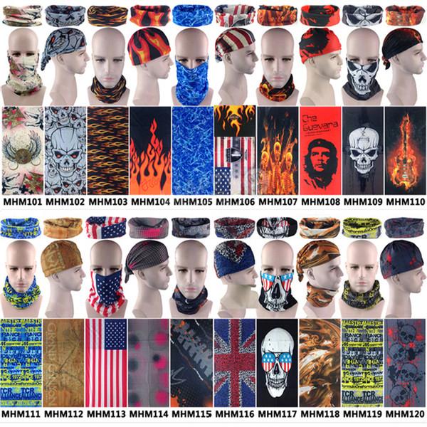 2018 NEW Multifunctional Bandana Headband Magic Mask Face Skull Flag Scarf Seamless Tube Ring Scarf Unisex Hiking Skiing Scarves
