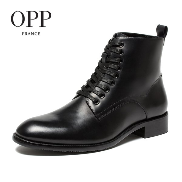 Nouveau Classique Hommes Pour En D'hiver Chaussures Bottes Bottines Chaussures Cuir Véritable Hommes Acheter Hommes OPP 2017 Hommes Bottes Bottes WEYD2e9HI