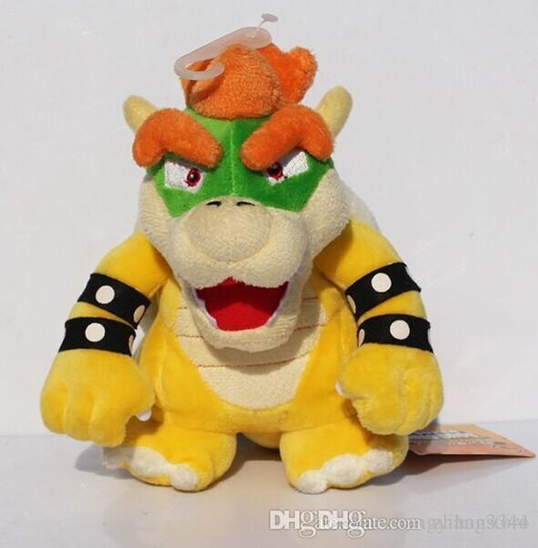"""7""""18cm Free Shipping Super Mario Koopa Bowser Plush Toys With Tag Birthday Gift For Children"""