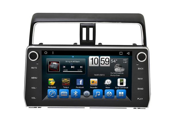 Android Car Radio Car DVD 2 Din GPS Glonass Navigator for Toyota 2018 Prado , Octa Core 16G 3G Wifi BT RSD